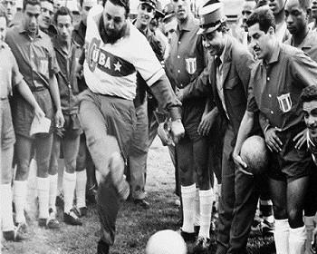 Fidel Castro Kicking Soccer Ball